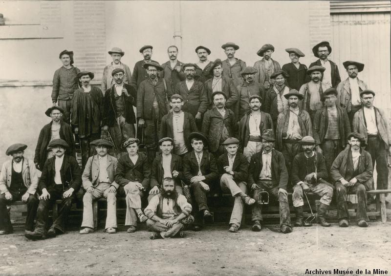 mineurs de ronch vers 1900